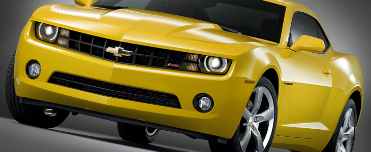 Yellow-Chevrolet-Camaro-Front