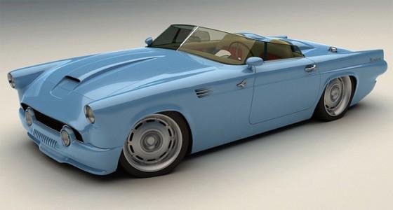 Bo-Zoland-1955-Ford-Thunderbird-Concept-Blue