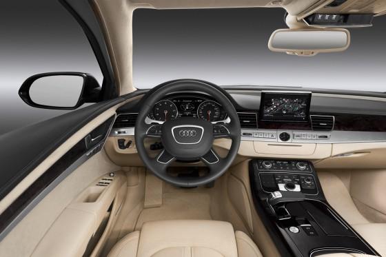 Audi A8 L interior of bullet proof car